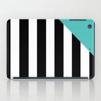 Triangle Stripes (Turquoise) iPad Case