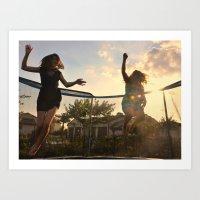 Summer Jumping Art Print