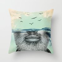 Under The Water Line Throw Pillow