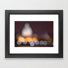 Abstract Bokeh Capitol Framed Art Print