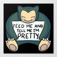 Feed Me Snrlx Canvas Print