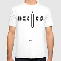 Design. Mens Fitted Tee White SMALL