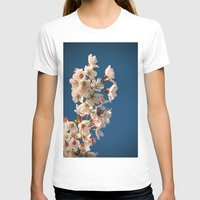 Awesome Blossom. Womens Fitted Tee White SMALL