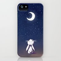 iPhone 5s & iPhone 5 Cases featuring Moon Bunny by Freeminds