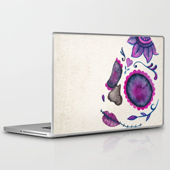 Sugar Skull Head Laptop & iPad Skin