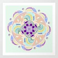 Daisy Lotus Meditation Art Print
