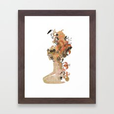 Freya's Hair (Gold) Framed Art Print