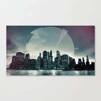 Manhattan Night Canvas Print