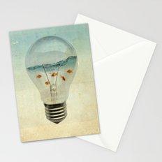 blue sea thinking Stationery Cards