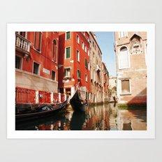 Venice, Italy. Gondola. Art Print