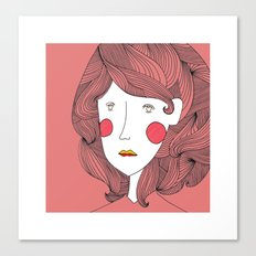 A Study in Hair Canvas Print