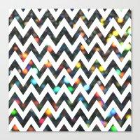Chevron Sparkles Canvas Print