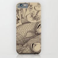 iPhone & iPod Case featuring The Golden Fish (1) by Judith Clay