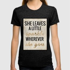 She Leaves A Little Spar… Womens Fitted Tee Tri-Black SMALL
