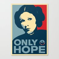 Leia's Only Hope Canvas Print