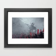 Dark Shogun Framed Art Print