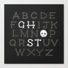 Somethin' strange in your alphabet Canvas Print
