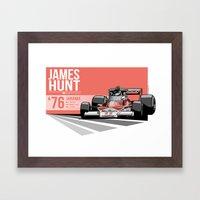 James Hunt - 1976 Jarama Framed Art Print