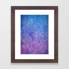 Map of the Stars Framed Art Print