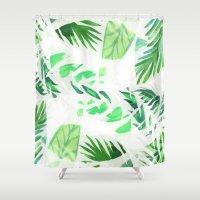 Leaf tropical pattern  Shower Curtain