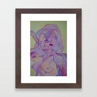 Superimposed Self Study Framed Art Print