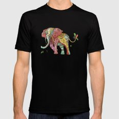 Elephant Ini Black SMALL Mens Fitted Tee