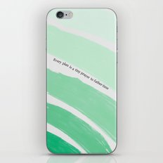 Every Plan is a Tiny Prayer to Father Time - Death Cab for Cutie Watercolor Rainbow iPhone & iPod Skin
