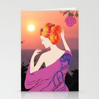 Lady Stationery Cards