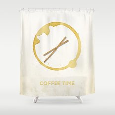 Coffee Time! Shower Curtain