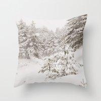 Under The Snow. Retro Throw Pillow