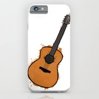 guitar iPhone & iPod Cases featuring Guitar by elyinspira