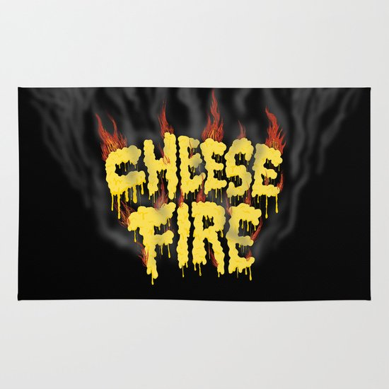 CHEESE FIRE!!! Area & Throw Rug