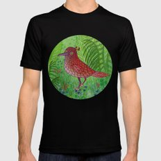 Red Bird Mens Fitted Tee Black SMALL