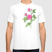 Ballpoint Pen, Redouté'… Mens Fitted Tee White SMALL
