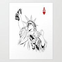 Freedom...black & White Art Print
