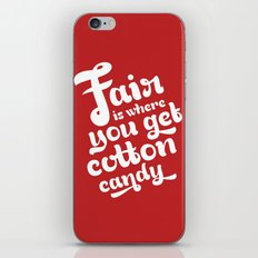 Fair • Red  iPhone & iPod Skin