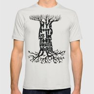 My Roots Are In The Unse… Mens Fitted Tee Silver SMALL