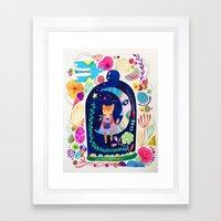 Little fox in Secret place Framed Art Print