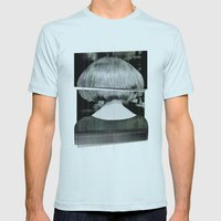 Fashion Mens Fitted Tee Light Blue SMALL