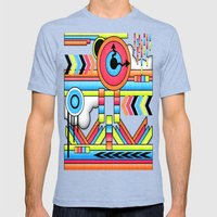 Fun Factory. Mens Fitted Tee Tri-Blue SMALL