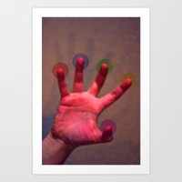 your hand, as the creation Art Print