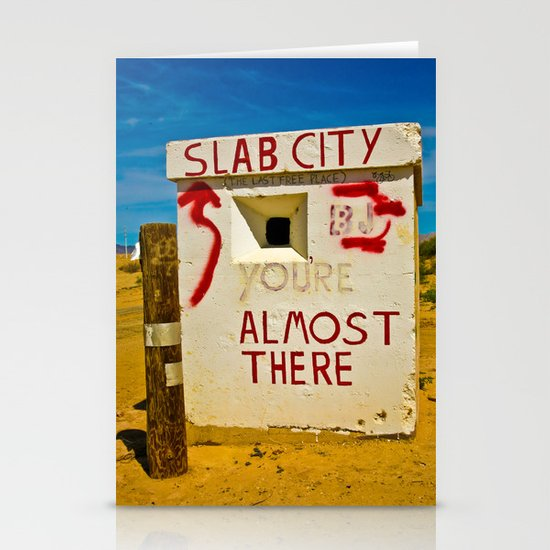 This way to Slab City Stationery Card