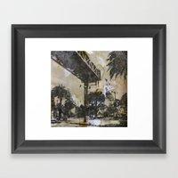 The Embarcadero On Mylar… Framed Art Print