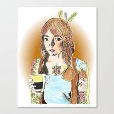 Tattoos and Tea Canvas Print