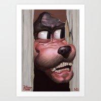Heeere's Goofy! Art Print