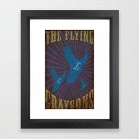 Flying Graysons Framed Art Print