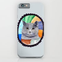 iPhone & iPod Case featuring KITTY / GREY by dorc