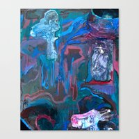 The Communal Concentration Canvas Print