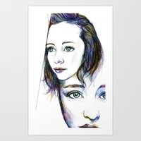 Faces Art Print