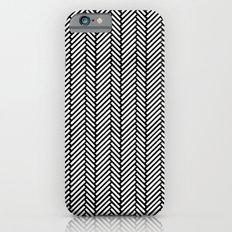 Herringbone Black Slim Case iPhone 6s